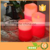 3Pcs wireless led flameless candles lights set Red White led flameless candles with realistic flame