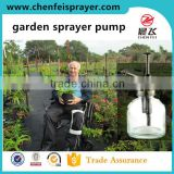 Plastic and chromed custom garden dispenser pump head sprayer for water flower