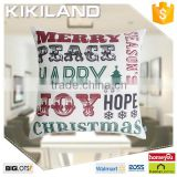 New listing designer handmade cushion covers Christmas Day custom printing cushion covers
