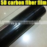 New arrival 5D carbon fiber film/5D carbon fiber vinyl car wrap vinly 1.52*20m for the size.