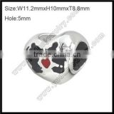 Wholesale mickey mouse bead stainless steel bead