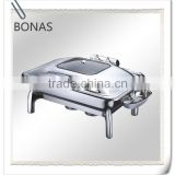 Roll top chafing dish, food warmer for catering, full size stainless steel buffet chafer
