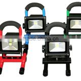 Portable Battery Powered LED Work Light 12V 24V IP65 Outdoor Rechargeable LED Flood Light 10W 20W 30W 50W