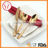Rose gold pated fish fork and knife, ice cream spoon cutlery set