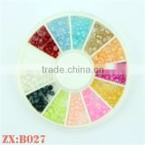 Popular 3D Half-Round Flat Pearls For Resin Nail Art Stickers Wheel Jewelry for Manicure