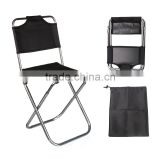Best Promotion Black Aluminum Folding Portable Stool Chair Fishing Chairs Bag Outdoor Travel Fishing Equipment