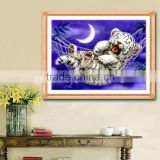 Good Promotion Handmade Counted Cross Stitch Kit Baby Tiger Design 44*33cm Home Decoration Embroidered Cloth Livingroom Gift