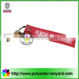 Custom remove before flight key chain