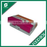 ECO-FRIENDLY DISPOSABLE DONOT PACKAGING BOXES COATED PAPER TAKE AWAY FOOD DELIVERY BOX FOR SALE