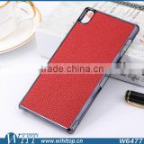 Alibaba Express Hot Sale PC Back Cover for Sony Z3 Case, Chrome Leather Case for Xperia Z3