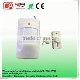 Wall-mounted installation 9V laminated batteries Sensor Waterproof Wireless infrared detector