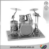 Classic Jigsaw 3D Drums Design Brain Teaser Handcrafted metal puzzle sets