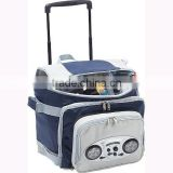 2015 Newest Fashion Trolley Cooler Bag with AM/FM radio