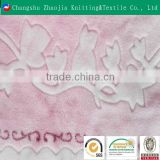 Changshu supplier glue print coral fleece fabric for baby blanket