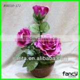 new design 3 pcs artificial potted rose