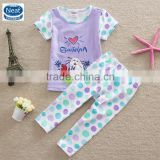 (TS5518) Purple 2-6Y Neat new hot children girl summer sets cute baby boutique clothing sets spots printed