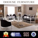 classic antique furniture silver solid wood carving fabric sofa AL080