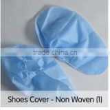 China manufacture Disposable non woven material dark blue anti slip shoe cover for hospital