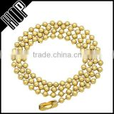 Gold Plated Brass Ball Chain Necklace