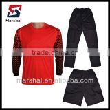 custom design bulk Long Sleeve goalkeeper jersey set,goalie football jersey,Goalkeeper equipment
