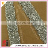 HC-0609-1 Hechun Chinese Supplier Good Price Silver Crystal Beaded Wedding Sash                                                                         Quality Choice