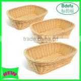 Factory price New Design High quality handmade popular plastic basket / Bread display stand