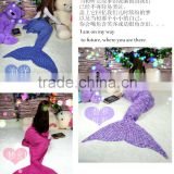 Hot Sales Knitted Mermaid Tail Blankets