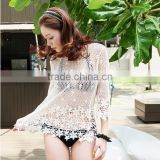 Sexy Womens Floral Lace Crochet Cover Up Bikini Swimwear Tops Blouse Shirt Dress                                                                         Quality Choice