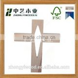 unfinished natural religious wall haging decor small wholesale craft wooden cross small wooden crosses