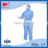 CE medical working cheap waterproof insulated workwear polypropylene safety disposal coverall suit
