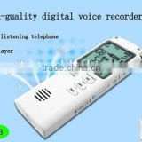 8GB T60 New Fashionable Professional stereo Dictaphone Digital Voice Audio Telephone Recorder with MP3 Player LCD Display