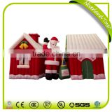 Hot Selling Factory Price NEVERLAND TOYS Colorful Decorations Merry Christmas House Inflatable Santa Claus For Sale