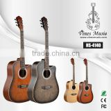 41inch spruce ,sapele, willow acoustic guitar with tensor matt finish