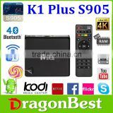High quality K1 Plus mini mx Amlogic S905 Android STB /DVB/tv box quad core google android 5.1 OS