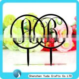 fashionable design acrylic laser cutting cake decoration flowers topper cake accessories love for wedding birthday party