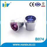 2016 new products graceful blue crystal glass cabinet knobs
