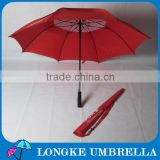 "30"" red color auto open Straight golf Umbrella with foam handle"