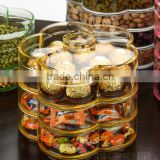 Dry fruit box acrylic transparent snack box of candy cassette cover storage box box double multilayer fruit(B-0296)