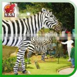 Realistic zebra model animatronic animal for sale