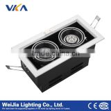 2x4w gimbal adjustable recessed led pendant grille panel light