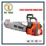 Gasoline pocket chain saw