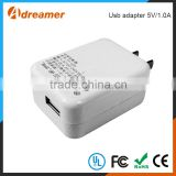 Hot Free sample 5V/1.0A cellphone / tablet PC home wall charger power travel usb adapter