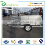 OEM factory Galvanized semi sheep panel trailer