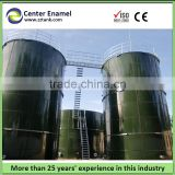 2000 tons glass fused to steel flat bottom steel grain silos with cover