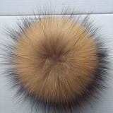 Popular large fur pompon balls car key pendant dyed raccoon fur ball