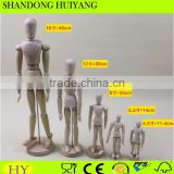 Fashion design handmade wooden mannequin with movable joints wooden puppet