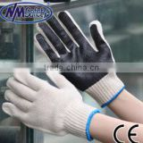 NMSAFETY 10 Gauge sewing wrist knit cotton gloves for all normal works/safety gloves good quality