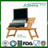 Cheap Small Computer Desk Modern Bed / Sofa Folding Bamboo Laptop Table