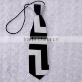 Hot sale soft baby ties black and white classic chevron boy ties