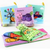 4 Styles Baby Toys Soft Cloth English Eriting Books Infant Educational Stroller Toy